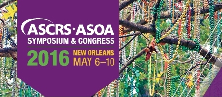 Doctor Vryghem was invited to speak at the ASCRS congress in New Orleans on the 9th of May 2016