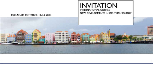 Dr. J.C. Vryghem als Sprecher zum 'International Course on New Developments in Ophthalmology' nach Curaçao eingeladen