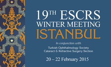 Dr. J.C. Vryghem spricht auf dem 19. ESCRS Winter Meeting / Cornea Day in Istanbul