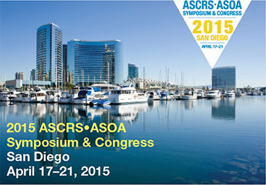 Dr. Vryghem participated at the ASCRS-ASOA congress in San Diego (USA) from the 17th till the 21st of april 2015
